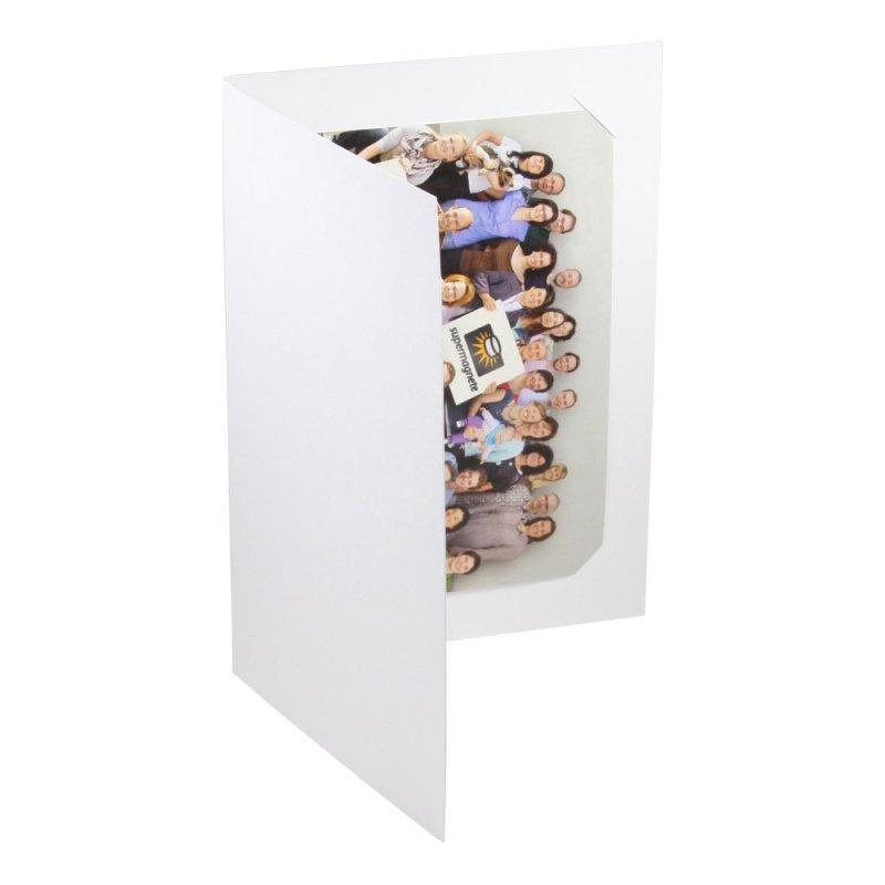 cartonnage vierge pour photo 10x15 carton blanc mat teint dans la masse. Black Bedroom Furniture Sets. Home Design Ideas