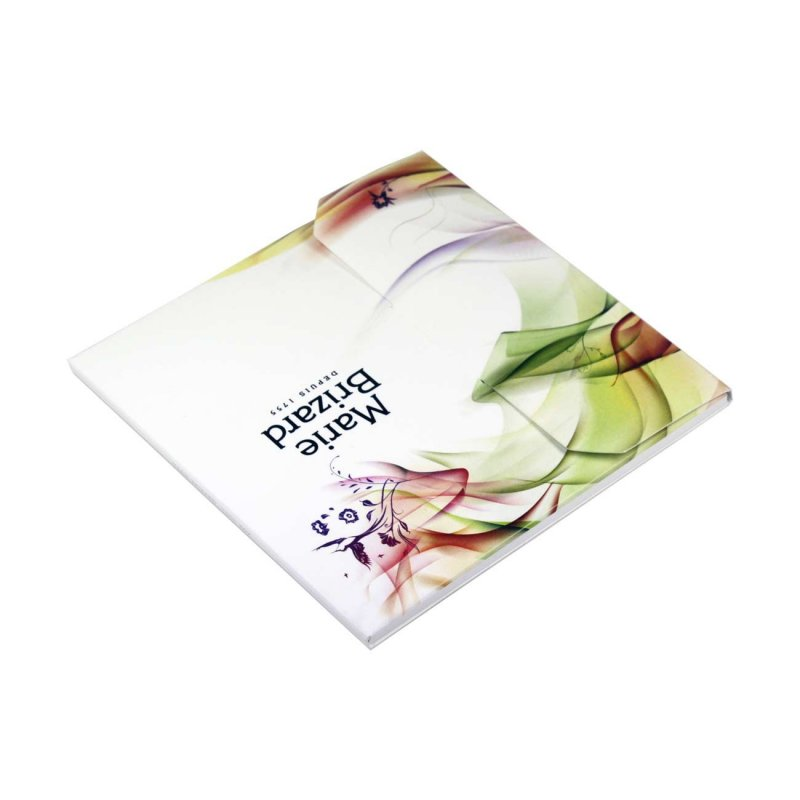 pochette rabat pour 2 cd avec pochettes plastiques livret. Black Bedroom Furniture Sets. Home Design Ideas